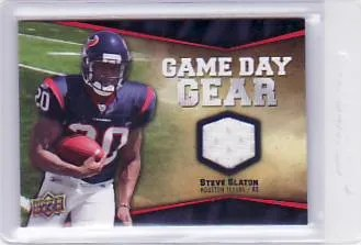 2009 UD Game Day Jersey Steve Slaton Retail