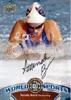 2010 World of Sports Amanda Beard Autograph