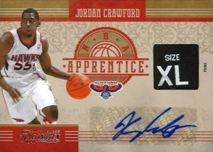2010-11 Panini Timeless Treasures Jordan Crowford NBA Apprentice Autograph Material Card