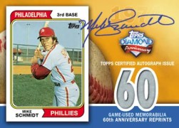 2011 Topps 60 Mike Schmidt Autograph Relic