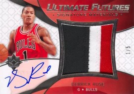Derrick Rose Ultimate Futures Auto Game Used Patch