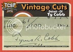 2011 Tri-City Sports Ty Cobb Diamond Cut Vintage Auto