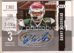2010 Sage Hit Danny Woodhead Autograph