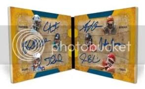 2011 Topps 5 Star Football Six Autograph Book Card