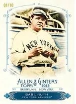 2012 Topps Allen & Ginter Babe Ruth Rip Card