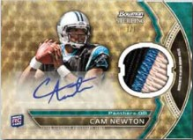 2011 Bowman Sterling Football Cam Newton Autograph Relic Superfractor Parallel