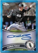 2011 Topps Chrome Chris Sale Autograph Chris Sale Blue Refractor #205