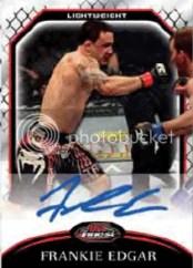 2011 Topps UFC Finest Frankie Edgar Autograph Card