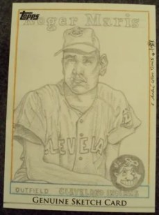 2011 Topps Sketch Card Roger Maris