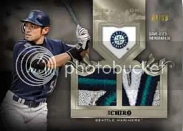 2011 Topps Tier 1 Ichiro Top Shelf Relic Card