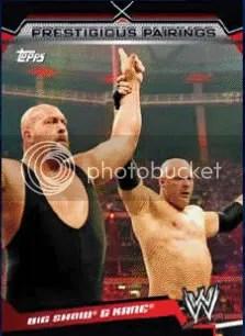 2011 Topps WWE Prestigious Pairings Big Show & Kane Insert Card
