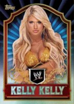 2011 Topps WWE Classic Kelly Kelly Gold Parallel Base Card