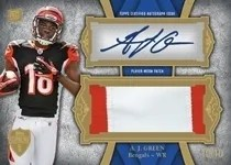 2011 Topps Supreme AJ Green Patch Autograph Card