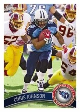 2011 Topps Football Chris Johnson Base Card