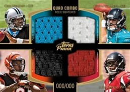 2011 Topps Prime Quad Combo Relic Card