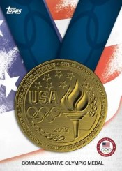 2012 Topps USA Olympics Commemorative Gold Medal