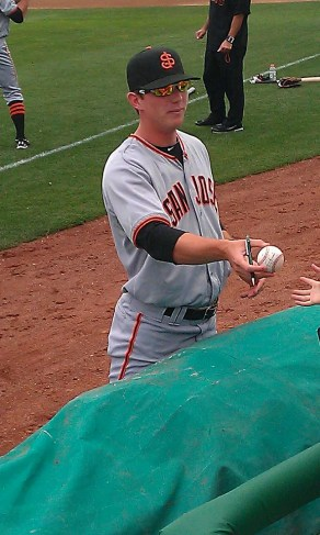 Gary Brown San Jose Giants Top Prospect - S.F. Giants 1st Round Pick
