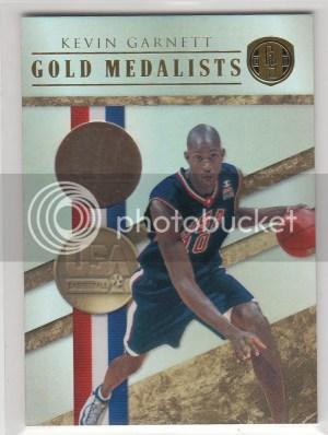 2010/11 Panini Gold Standard Kevin Garnett USA Medalist 14K Card #/10