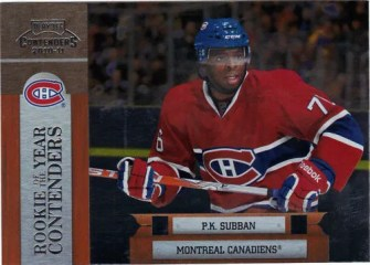 2010/11 Playoff ROY Contenders  PK Subban Insert Card #13