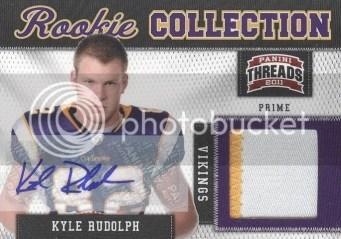 2011 Threads Kyle Rudolph Autograph Patch Card