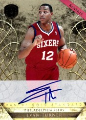 2010-11 Gold Standard Evan Turner Autograph RC Card #/299