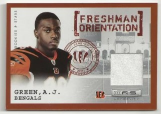 2011 Panini Rookies & Stars Longevity A.J. Green Freshman Orientation Material Card