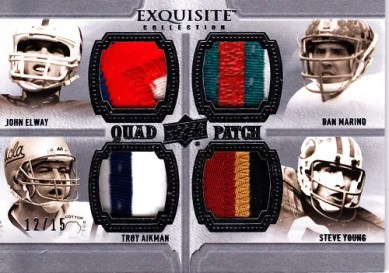 2010 Exquisite Quad Patch Marino/Aikman/Young/Elway