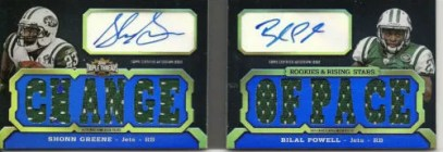 2011 Topps Triple Threads Shonn Greene Bilal Powell