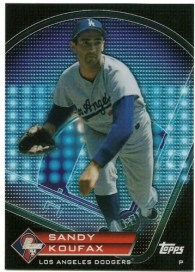 2011 Topps Prime 9 Sandy Koufax Card