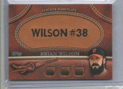 2011 Topps Update Brian Wilson Glove Leather