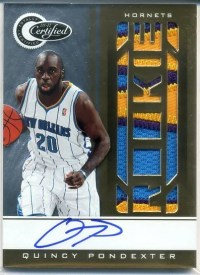 2010-11 Certified Quincy Pondexter Patch Auto Rookie