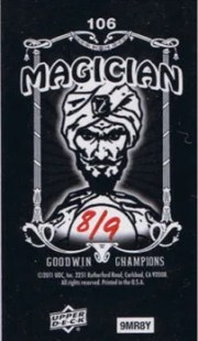 2011 Goodwin Champions Tim Hardaway Magician Back /9