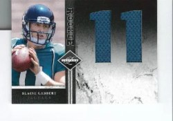 2011 Panini Limited Blaine Gabbert Jersey Number