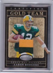 2011 Panini Certified Aaron Rodgers Gold Prime Jersey