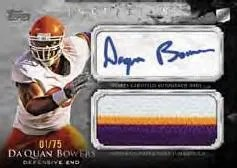 2011 Topps Inception Da'Quan Bowers Jumbo Patch Autograph