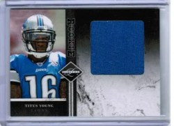 2011 Panini Limited Titus Young Jumbo Jersey /99