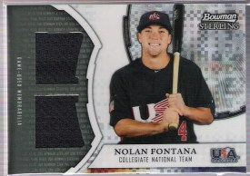 2011 Bowman Sterling Dual Relic X-Fractor #NF Nolan Fontana