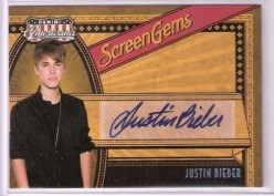 2011 Panini Americana Screen Gems Justin Bieber Autograph