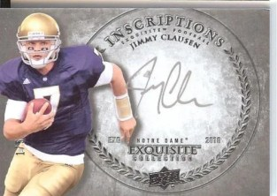 2010 Exquisite Jimmy Clausen Inscription Auto RC