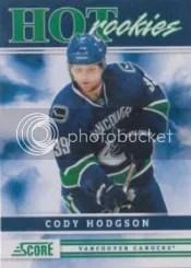 2011-12 Cody Hodgson Score Hot Rookies
