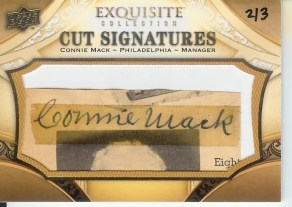 2011 Upper Deck Exquisite Connie Mack Cut