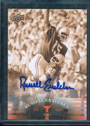2011 Upper Deck University of Texas Longhors Autograph Russell Erxleben