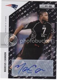 2011 Panini Rookies & Stars Longevity Marcus Cannon Autograph