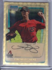 2011 Bowman Superfractor Thomas Layne Rookie RC