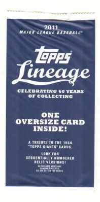 2011 Topps Lineage Box Loader Pack