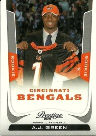 2011 Prestige A.J. Green Sp Variation Sp Rookie