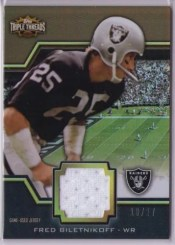 2011 Topps Triple Threads Fred Biletnikoff Jersey Raiders