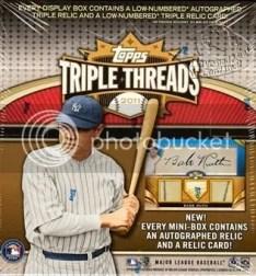2011 Topps Triple Threads Baseball Hobby Box
