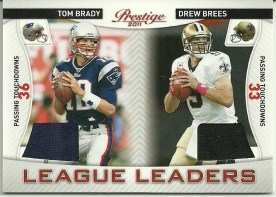 2011 Prestige Tom Brady / Drew Brees League Leaders