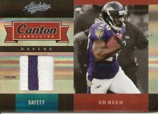 2011 Panini Absolute Ed Reed Canton Jersey Patch